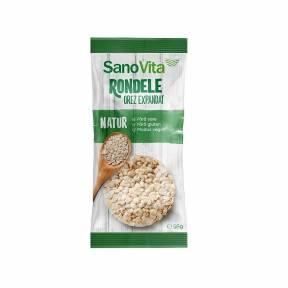Rondele din orez expandat 56 g, Sano Vita