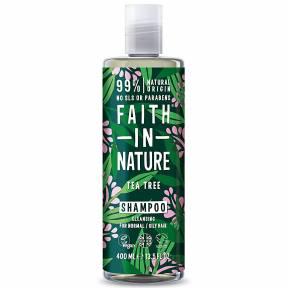 Sampon natural purificator cu ulei din arbore de ceai, pentru par gras cu matreata, Faith in Nature, 400 ml