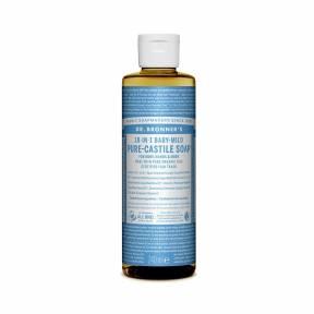 Sapun lichid de Castilia 18-in-1 Inodor, pentru bebelusi si piele sensibila, 240 ml, Dr. Bronner's