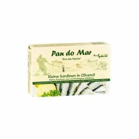 Sardine in ulei bio de masline extravirgin 120 g, Pan Do Mar