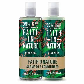 Set Sampon & Balsam cu Aloe Vera, Faith in Nature, 2 x 400 ml