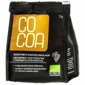 Stafide invelite in ciocolata raw-vegana, ECO, 70 g, Cocoa