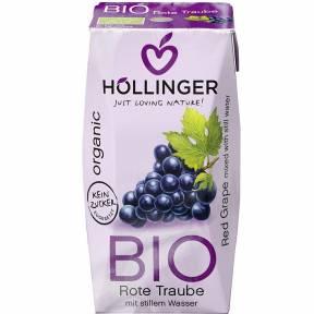 Suc de struguri rosii, ECO, 200 ml, Hollinger