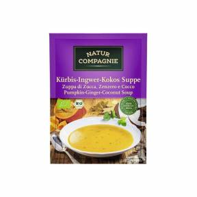 Supa cu dovleac, nuca de cocos si ghimbir ECO 40 g, Natur Compagnie