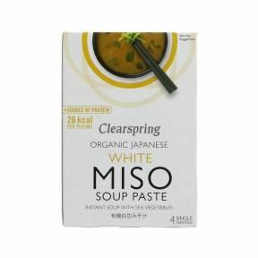 Supa instant cu pasta miso alba si cu alge ECO 60 g (4 x 15 g), Clearspring