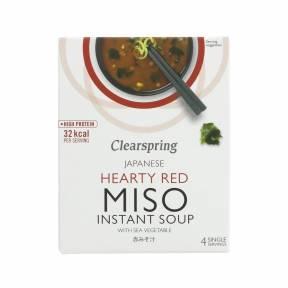 Supa Miso instant cu alge de mare 40 g (4 x 10 g), Clearspring