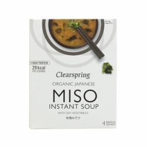 Supa Miso instant cu alge marine ECO 40 g (4 portii), Clearspring