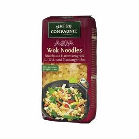 Taitei  pentru wok din grau dur ECO 250 g, Natur Compagnie