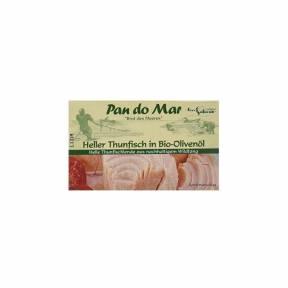 Ton cu aripioare galbene in ulei ECO de masline 120 g, Pan Do Mar