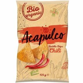Tortilla chips cu aroma de chili, ECO, 125 g
