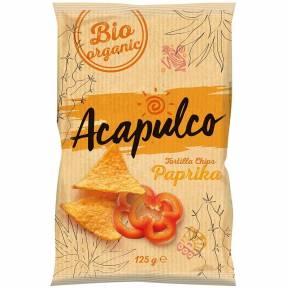 Tortilla chips cu aroma de paprika, ECO, 125 g