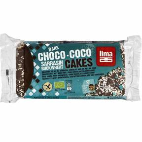 Vafe fara gluten cu hrisca, ciocolata neagra si cocos, ECO, 90 g, Lima