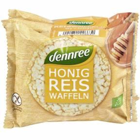 Wafe fara gluten, din orez si miere ECO 96 g (3 x 32 g), Dennree