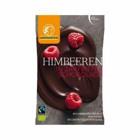 Zmeura trasa in ciocolata neagra ECO 50 g, Landgarten