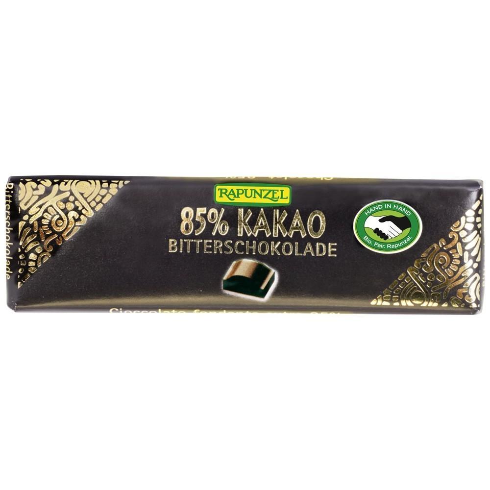 Ciocolata amaruie mica 85 % cacao VEGANA, ECO, 20 g, Rapunzel