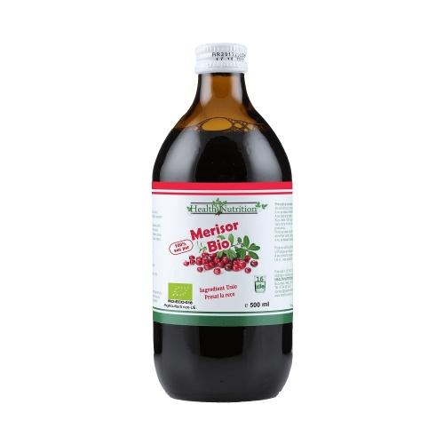 Merișor BIO 100% suc pur 500 ml - Health Nutrition