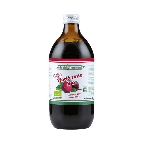 Sfeclă roșie BIO 100% suc pur 500 ml - Health Nutrition